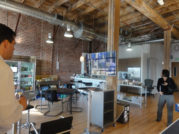 PMI's kitchen/break area for Ustream, San Francisco