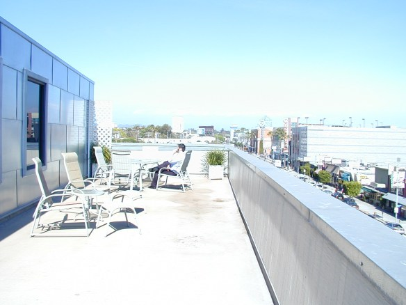 The private outdoor deck at 10951 Pico serves as another Third Space.