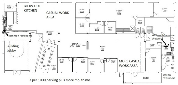 "2644 30th Street Suite 101: Blow Out Kitchen, Causal Areas, and Outdoor Space Create Opportunities for a ""Third Space"""