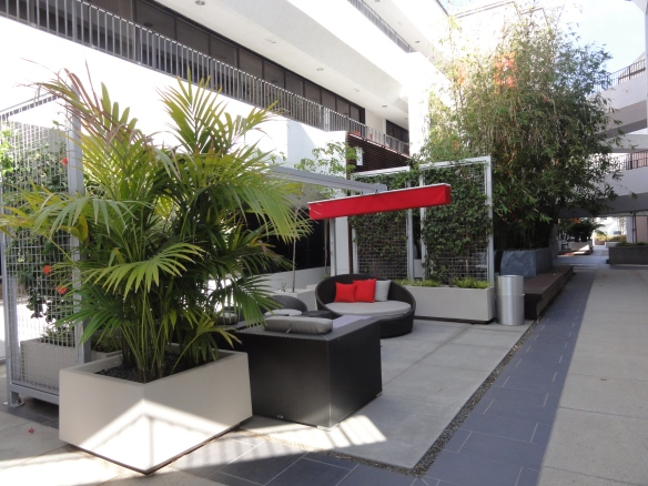 Social Area at Olympic Media Campus, West Los Angeles