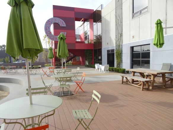More outdoor seating at Playa Jefferson Campus, Playa Vista