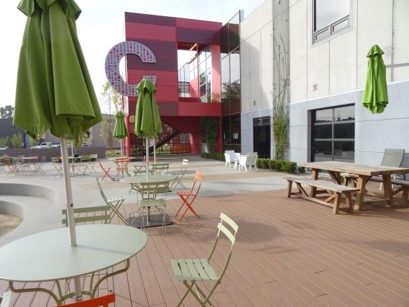More outdoor seating at Playa Jefferson Campus, Playa Vista