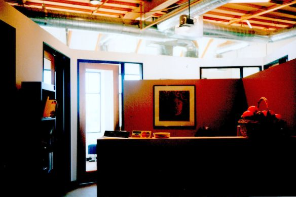 First Wood Open Ceiling in a Conventional 1982 Office Building, 720 Wilshire, Santa  Monica