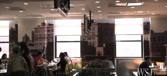 google new york cafeteria