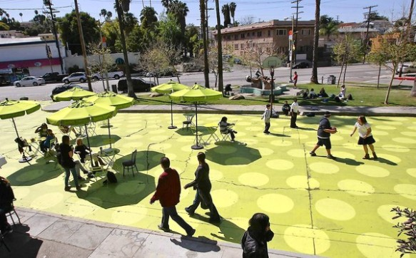 Sunset Triangle Plaza in Silver Lake is a new neighborhood plaza