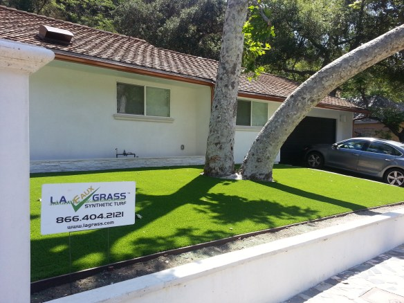 Synthetic Turf Front Lawn