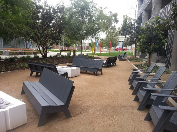New Outdoor Furniture and Landscaping at I/O Playa Vista