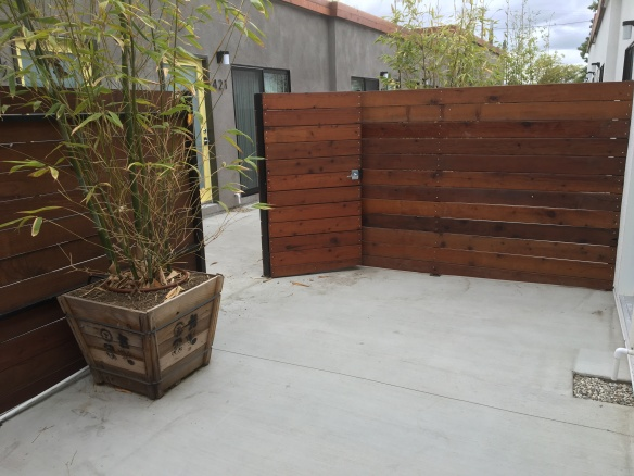Generous Private Patios